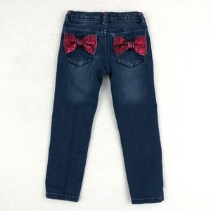 Vigoss Sequin Bows Back Skinny Jeans Size 4
